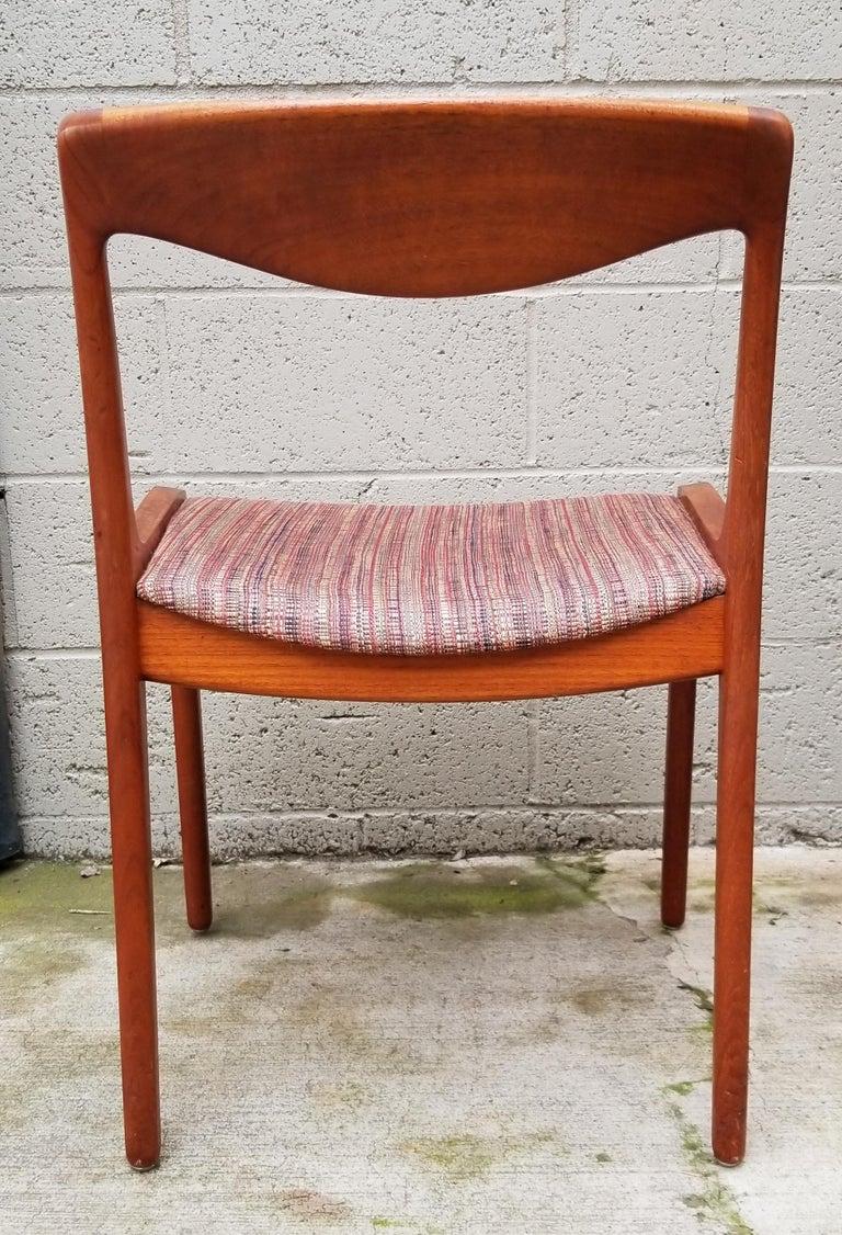 Wilhelm Volkert for Poul Jeppesen Danish Modern Dining Chairs, Set of 6 For Sale 1