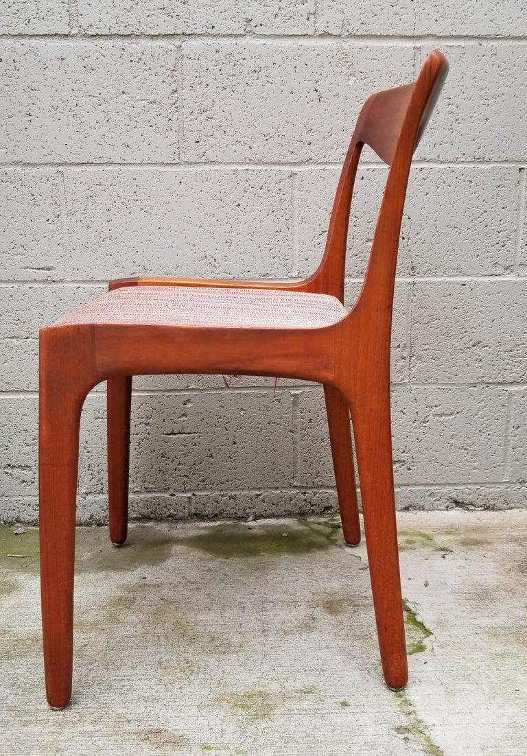 Wilhelm Volkert for Poul Jeppesen Danish Modern Dining Chairs, Set of 6 For Sale 2
