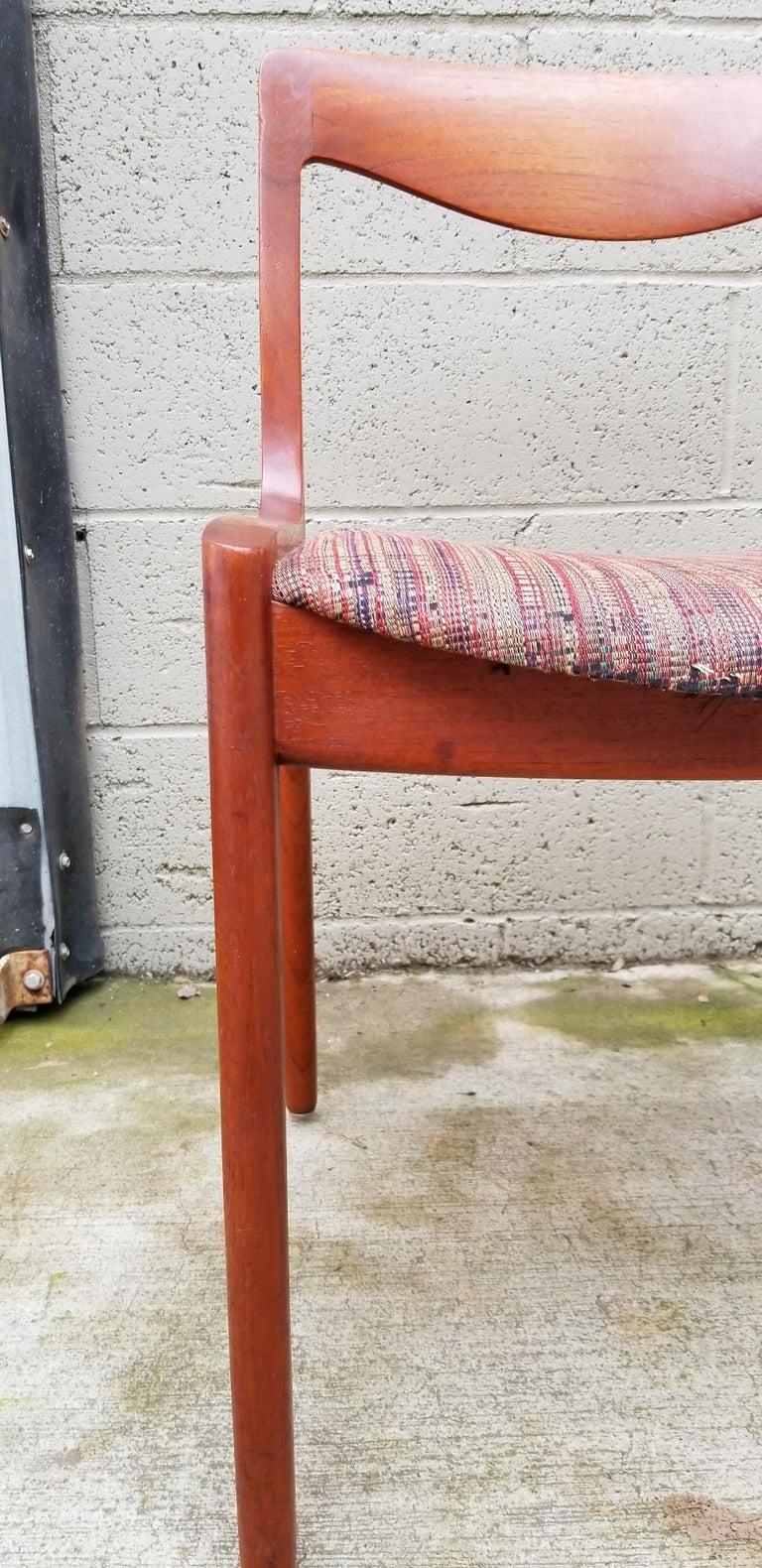 Wilhelm Volkert for Poul Jeppesen Danish Modern Dining Chairs, Set of 6 For Sale 3
