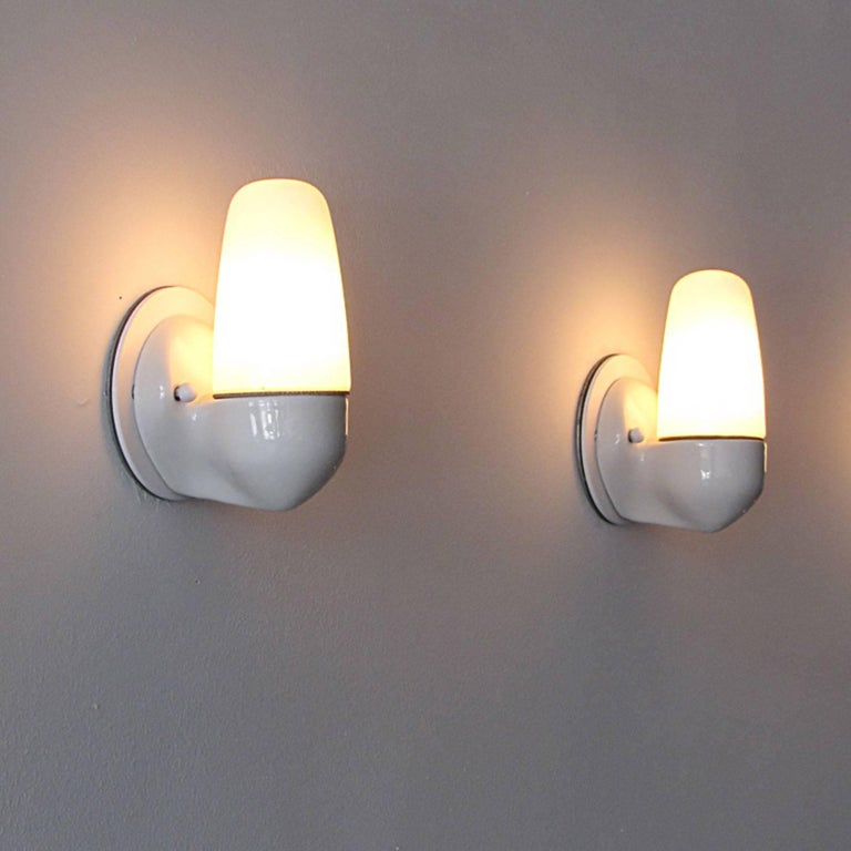 Wilhelm Wagenfeld Wall Lights for Lindner, 1950 For Sale 1