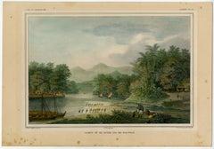 Gezigt op de rivier Goa bij Makassar.