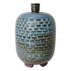 Wilhem Kage for Gustavsberg Large Swedish Farsta Stoneware Urn, 1950