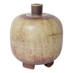 Wilhem Kage for Gustavsberg Swedish Farsta Stoneware Urn, 1950