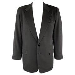 WILKES BASHFORD Black Cashmere / Wool Notch Lapel Sport Coat
