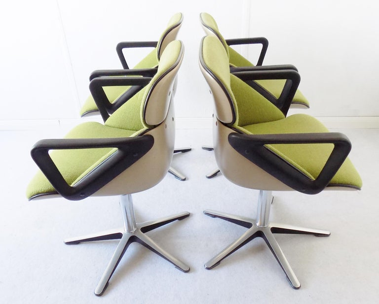Wilkhahn Chair Model 190 by Hans Roericht, Set of 4 Chairs, German, Midcentury 15