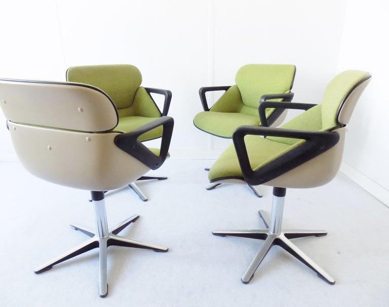 Wilkhahn Chair Model 190 by Hans Roericht, Set of 4 Chairs, German, Midcentury In Good Condition In Ludwigslust, Mecklenburg-Vorpommern