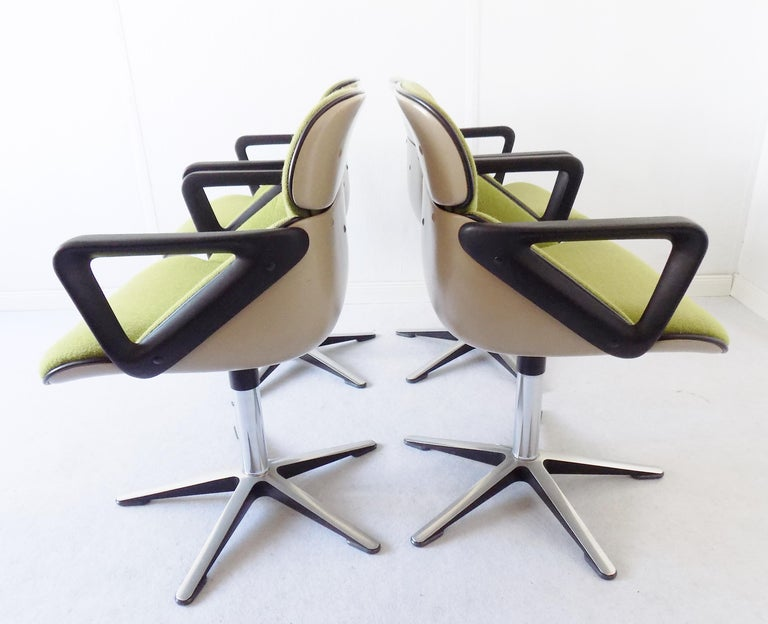 Wilkhahn Chair Model 190 by Hans Roericht, Set of 4 Chairs, German, Midcentury 1