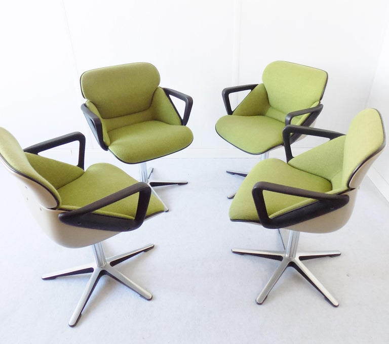 Wilkhahn Chair Model 190 by Hans Roericht, Set of 4 Chairs, German, Midcentury 3