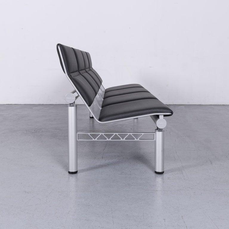 Wilkhahn Tubis Designer Fabric Sofa Four-Seat Bank Anthracite 5
