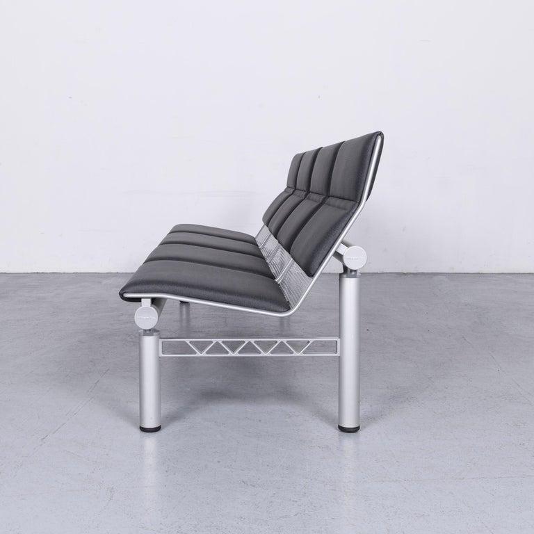 Wilkhahn Tubis Designer Fabric Sofa Four-Seat Bank Anthracite 7