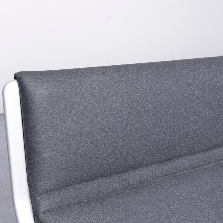 Wilkhahn Tubis Designer Fabric Sofa Four-Seat Bank Anthracite 2