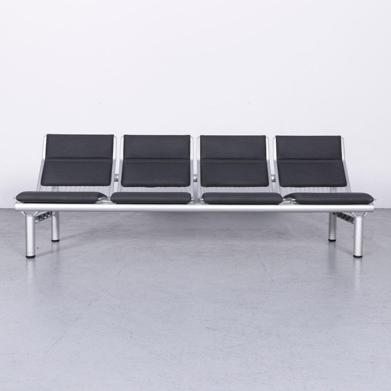 We bring to you a Wilkhahn Tubis designer fabric sofa set three-seat Bank Anthracit.