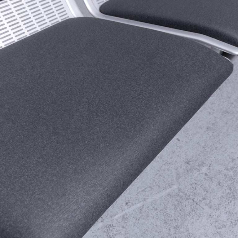 Wilkhahn Tubis Designer Fabric Sofa Set Three-Seat Bank Anthracit 2