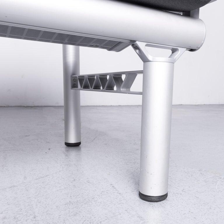 Wilkhahn Tubis Designer Fabric Sofa Set Three-Seat Bank Anthracit 4