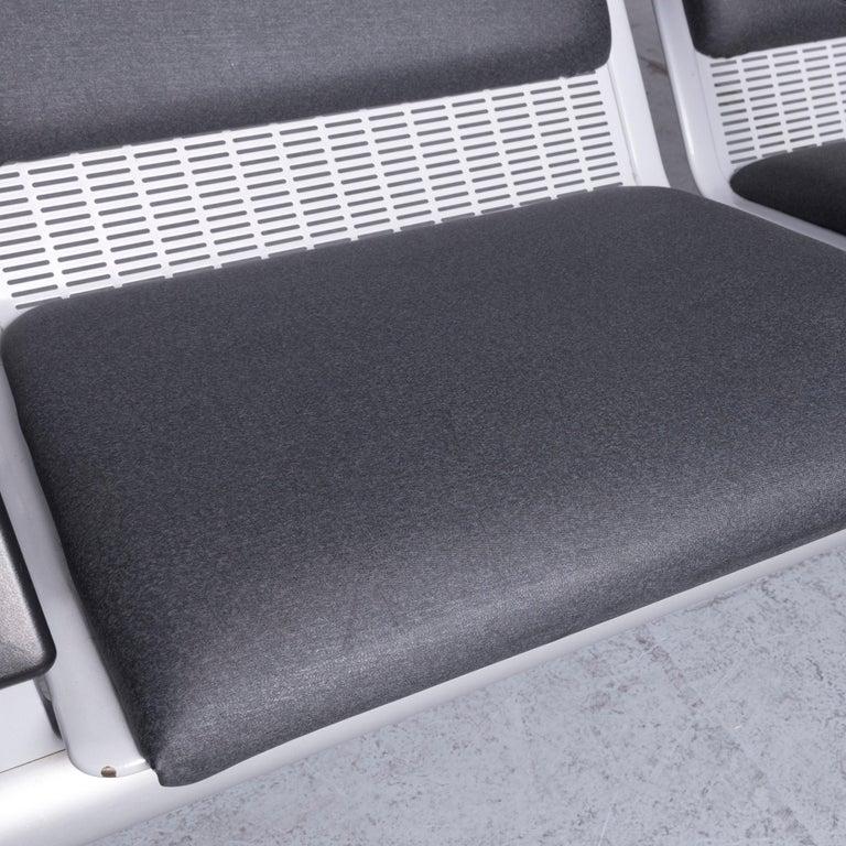 Wilkhahn Tubis Designer Fabric Sofa Set Three-Seat Bank Anthracite 1