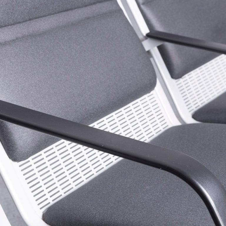 Wilkhahn Tubis Designer Fabric Sofa Set Three-Seat Bank Anthracite 3
