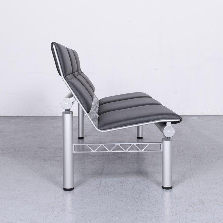 Wilkhahn Tubis Designer Fabric Sofa Three-Seat Bank Anthracite 5
