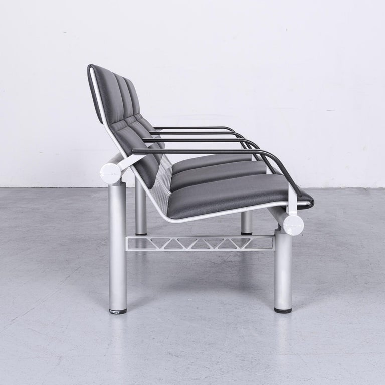 Wilkhahn Tubis Designer Fabric Sofa Three-Seat Bank Anthracite 6