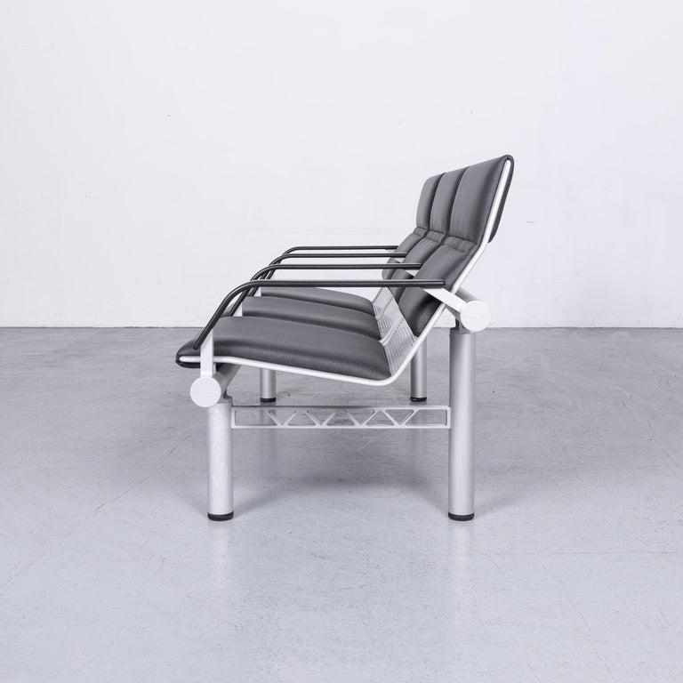 Wilkhahn Tubis Designer Fabric Sofa Three-Seat Bank Anthracite 8