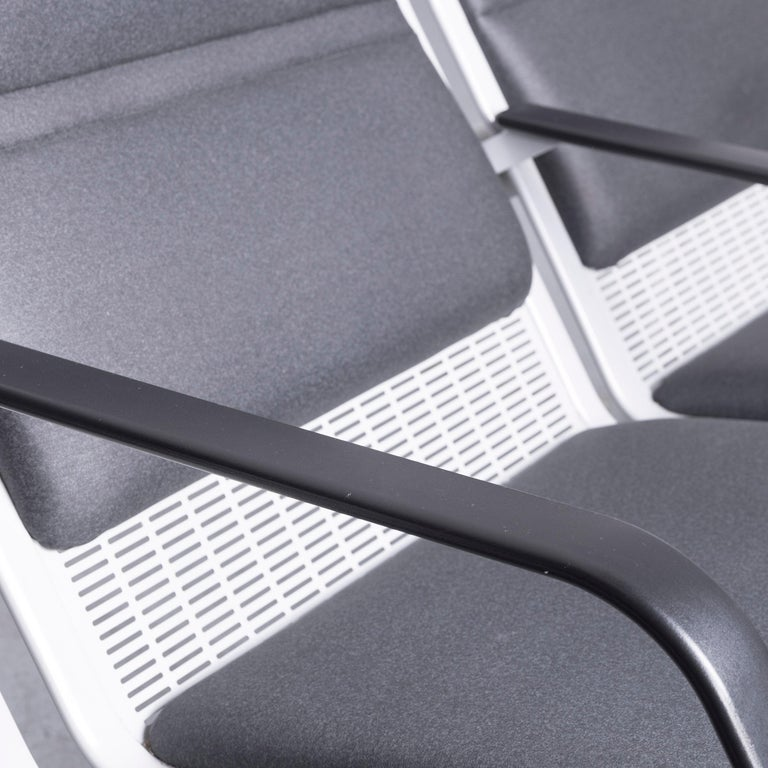Wilkhahn Tubis Designer Fabric Sofa Three-Seat Bank Anthracite 2