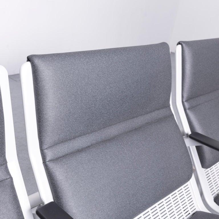 Wilkhahn Tubis Designer Fabric Sofa Three-Seat Bank Anthracite 3