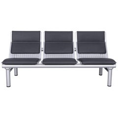 Wilkhahn Tubis Designer Fabric Sofa Three-Seat Bank Anthracite