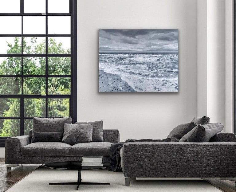 3 Seconds of Lockdown  - Gray Landscape Painting by Will Ayres