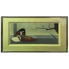 "Will Barnet ""Madame Butterfly"" Limited Edition Signed Serigraph Print"