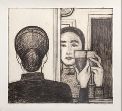 Between Life and Life, Lithograph by Will Barnet
