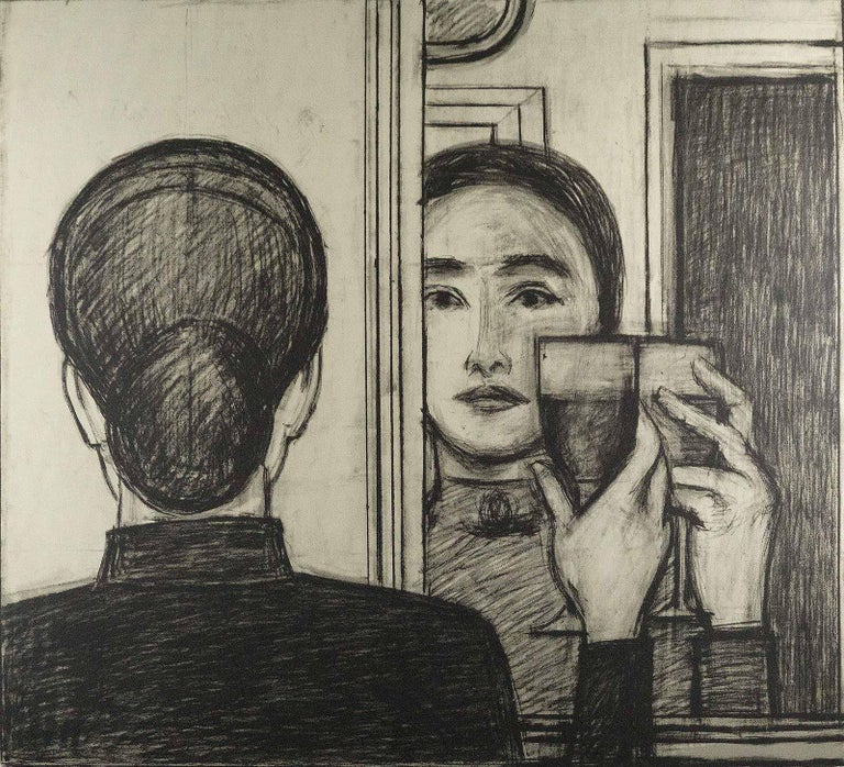Will Barnet Portrait Print - Between Life and Life  (Portrait of  Emily Dickinson for Print Club of New York)