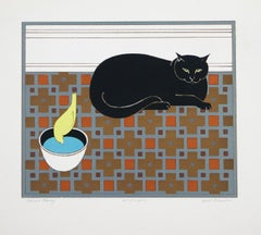 Cat and Canary by Will Barnet