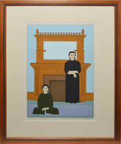 "Original Signed Serigraph ""Reflection"" by Will Barnet"