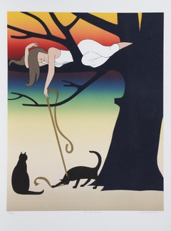 Play Signed Lithograph By Will Barnet 1975