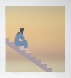 Stairway to the Sea, Signed Serigraph by Will Barnet 1984