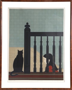 The Bannister, Framed Lithograph by Will Barnet 1981