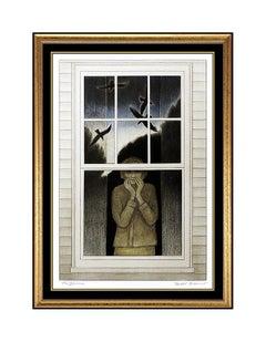Will Barnet Original The Dream Color Lithograph Signed Rare Portrait Artwork SBO
