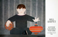 """Will Barnet-The Red top-23"""" x 36""""-Poster-1984"""