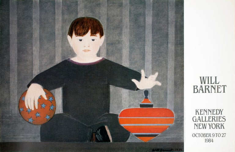 """Will Barnet-The Red top-23"""" x 36""""-Poster-1984 - Print by Will Barnet"""