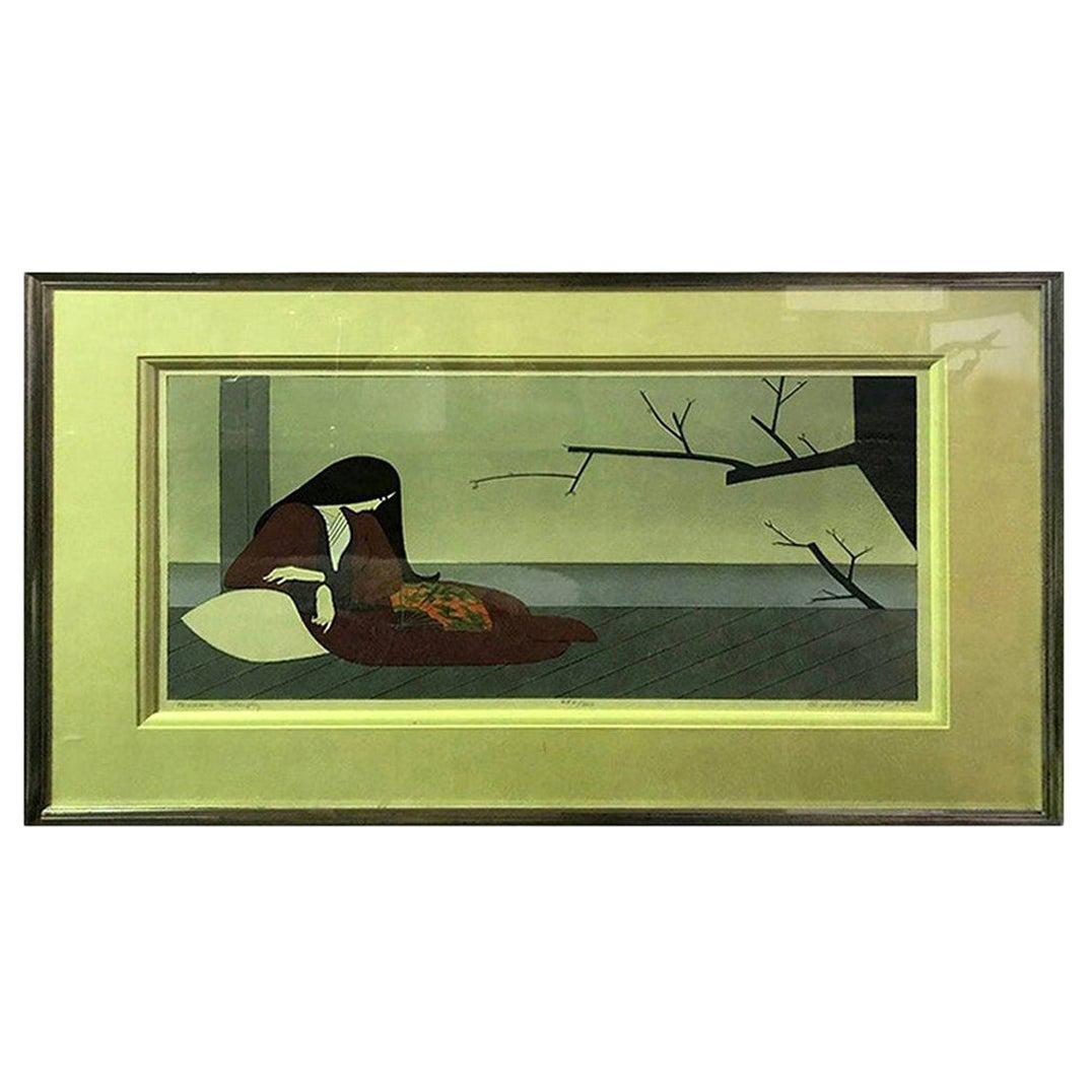 """Will Barnet Signed Limited Edition Serigraph Print """"Madame Butterfly"""""""