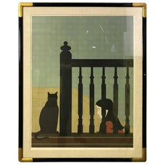 """Will Barnet """"The Banister"""" Limited Edition Signed Lithograph, 1981"""