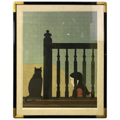 """Will Barnet """"The Banister"""" Signed Limited Edition Lithograph Print, 1981"""