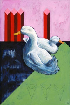 Sitting Ducks Unlimited, Painting, Oil on Wood Panel