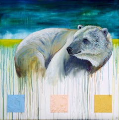 Snuggle Up, It's Going to Get Cold, Painting, Oil on Wood Panel