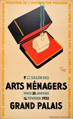 Original Vintage Poster For The Arts Menagers Household Show Grand Palais Paris