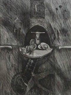 Will Maclean MBE (b.1941) - 1990 Etching, Bird Altar