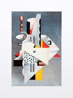 Cubist Composition, Lithograph by Will Mentor