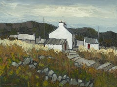 Welsh Landscape Oil Painting 'TyWill' by Wilf Roberts