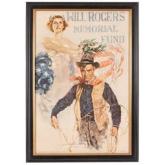 """Will Rogers Memorial Fund"" by Howard Chandler Christy, Vintage Poster, 1935"