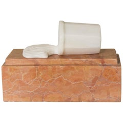 """Will West """"The Error"""" One of a Kind Contemporary Solid Marble Sculpture"""