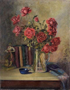 The Pirates of Penzance - Roses and Books - Still Life by Willie Kay Fall